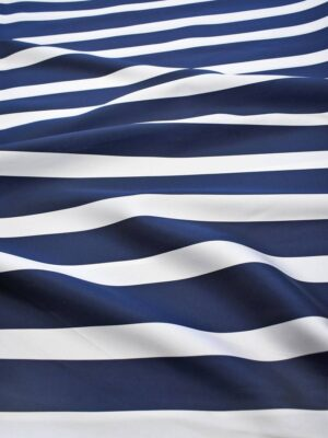 Тафта в полоску синяя с белым (7542) - Фото 16