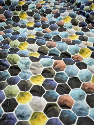 Курточная стеганая ткань с разноцветной мозаикой (7595) - Фото 12