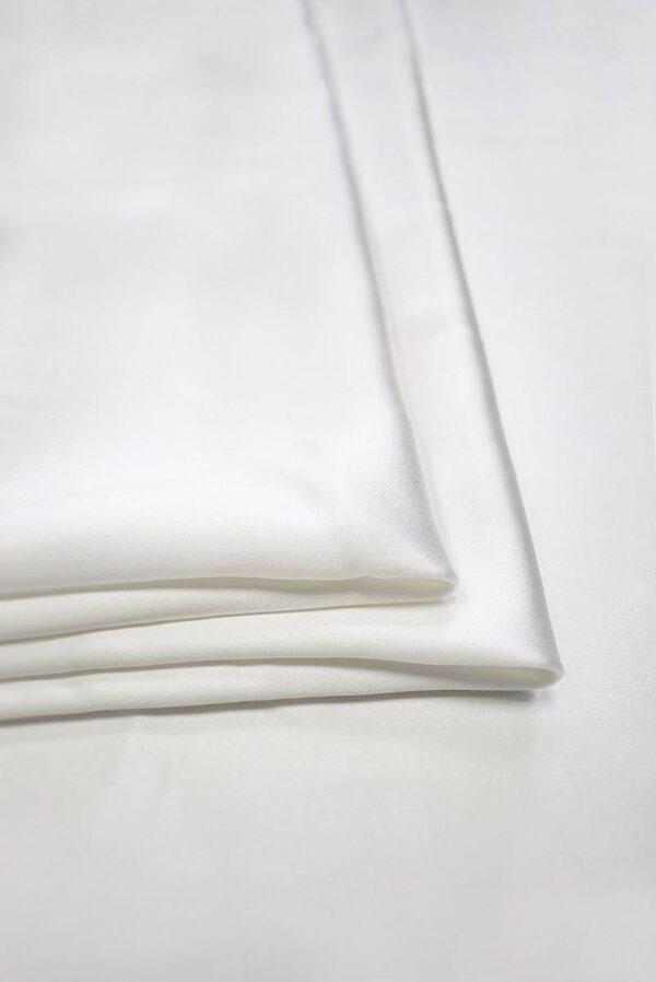 Шелковый атлас белого цвета (7637) - Фото 8