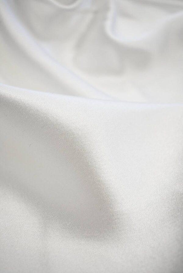 Шелковый атлас белого цвета (7637) - Фото 9