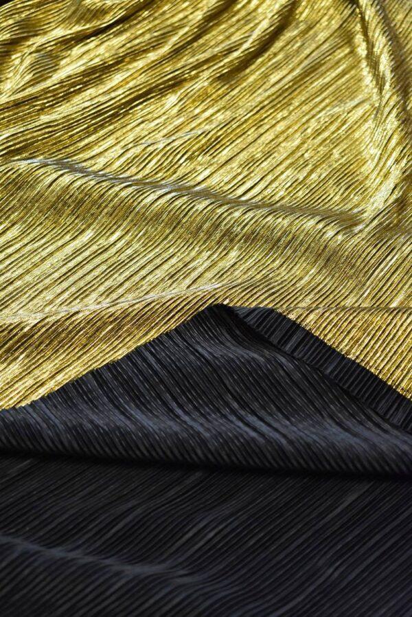 Плиссе с глиттером золотой оттенок (7653) - Фото 8