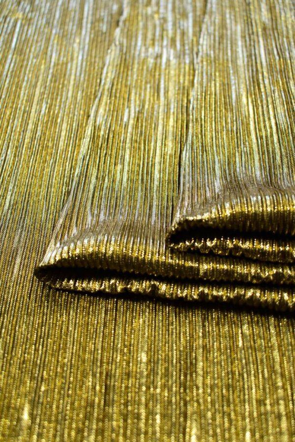 Плиссе с глиттером золотой оттенок (7653) - Фото 10