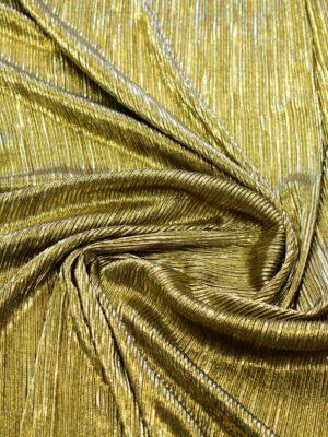 Плиссе с глиттером золотой оттенок (7653) - Фото 14