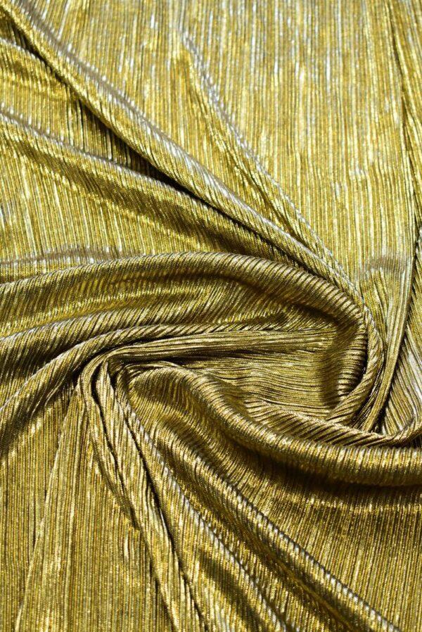 Плиссе с глиттером золотой оттенок (7653) - Фото 7