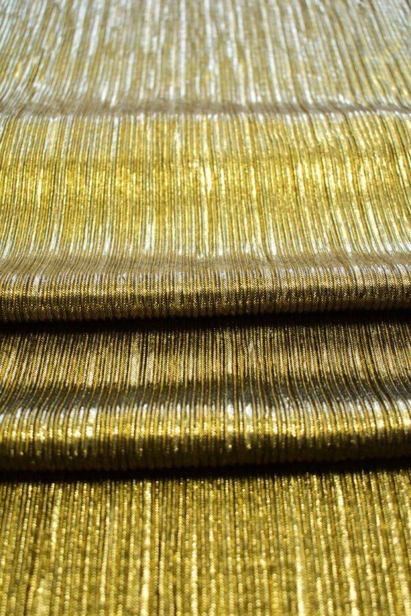 Плиссе с глиттером золотой оттенок (7653) - Фото 9