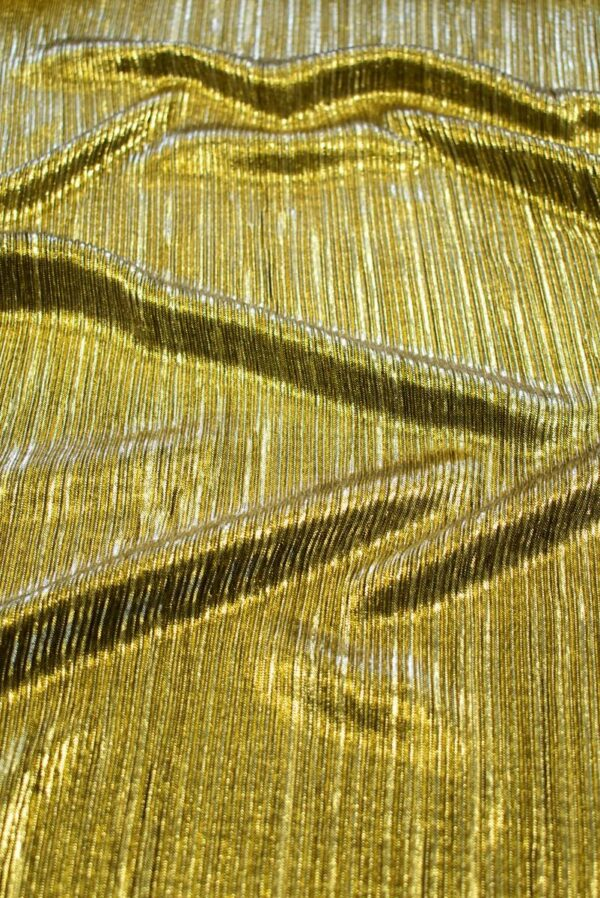 Плиссе с глиттером золотой оттенок (7653) - Фото 6