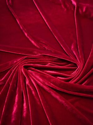 Бархат стрейч вишневого оттенка (7724) - Фото 12
