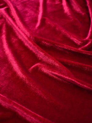 Бархат стрейч вишневого оттенка (7724) - Фото 11