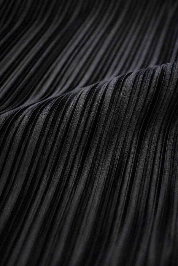 Плиссе черное с блеском