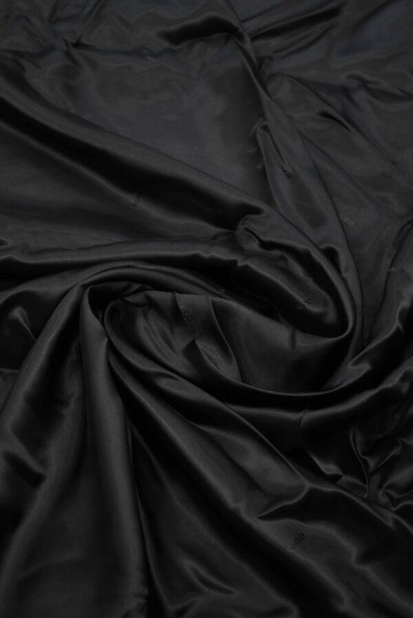 Подклад черный с мелкими надписями (7893) - Фото 7