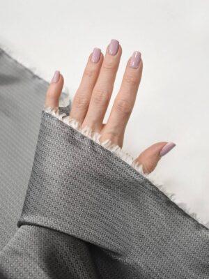 Подклад жаккардовый серый в мелкий узор (7904) - Фото 17
