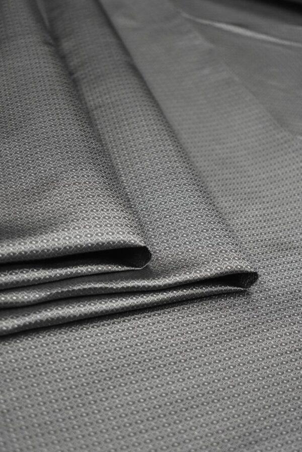 Подклад жаккардовый серый в мелкий узор (7904) - Фото 9