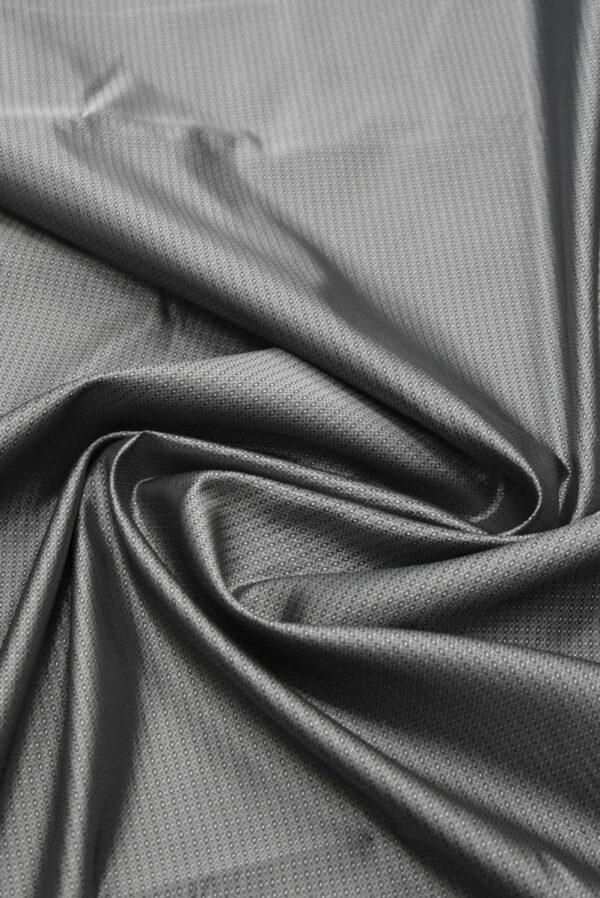 Подклад жаккардовый серый в мелкий узор (7904) - Фото 8