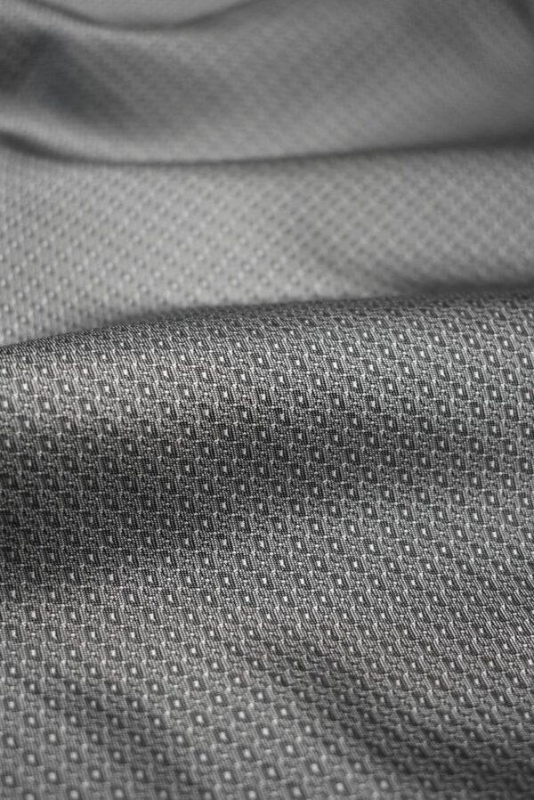 Подклад жаккардовый серый в мелкий узор (7904) - Фото 10