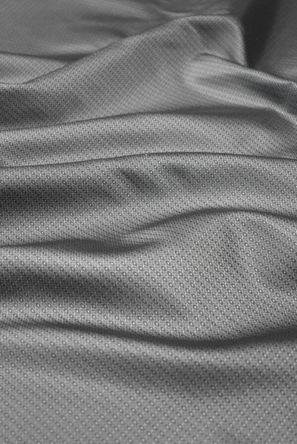 Подклад жаккардовый серый в мелкий узор (7904) - Фото 6