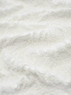 Мех искусственный с кожаными вставками оттенок молочно-белый (7905) - Фото 14