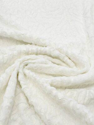 Мех искусственный с кожаными вставками оттенок молочно-белый (7905) - Фото 15