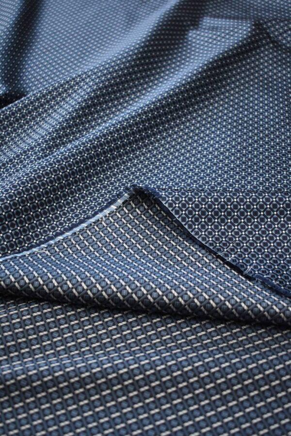 Жаккард шелк в мелкий геометрический узор (7907) - Фото 11