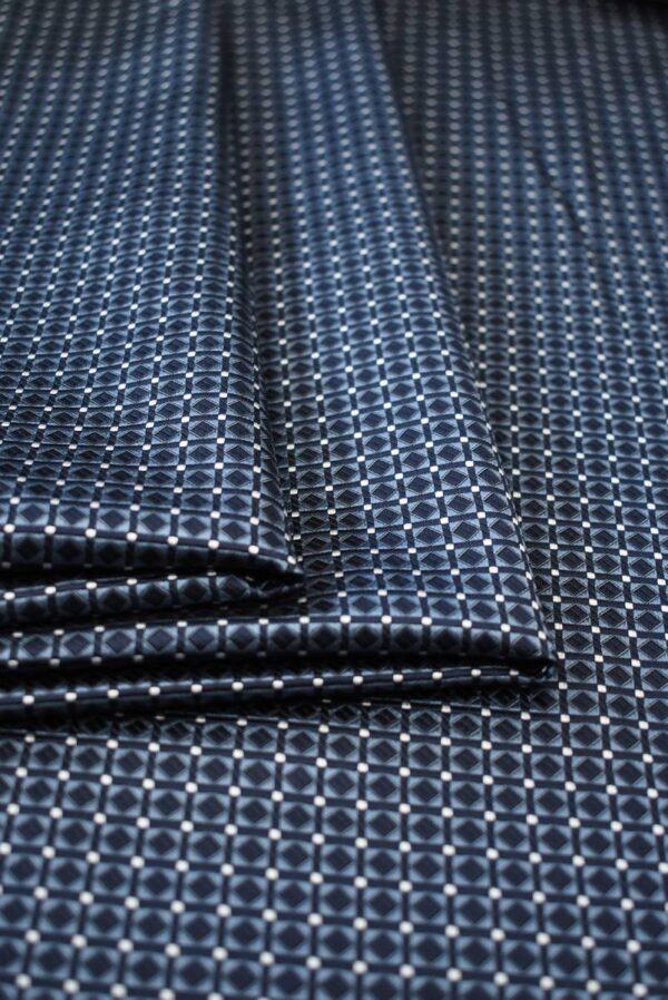 Жаккард шелк в мелкий геометрический узор (7907) - Фото 10