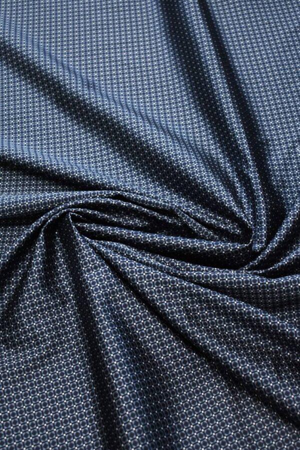 Жаккард шелк в мелкий геометрический узор (7907) - Фото 7