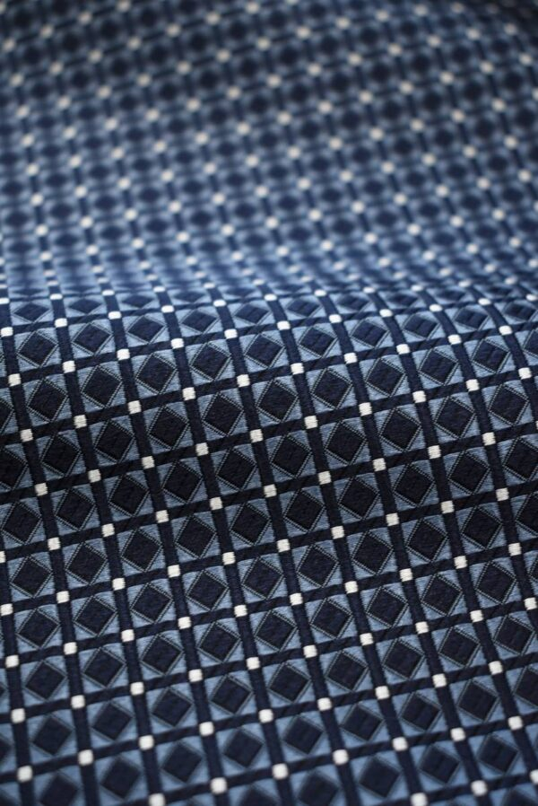 Жаккард шелк в мелкий геометрический узор (7907) - Фото 8