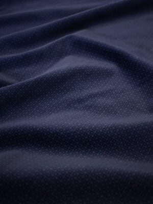 Бархат стрейч чернильно-синий в мелкую клеточку (7942) - Фото 11