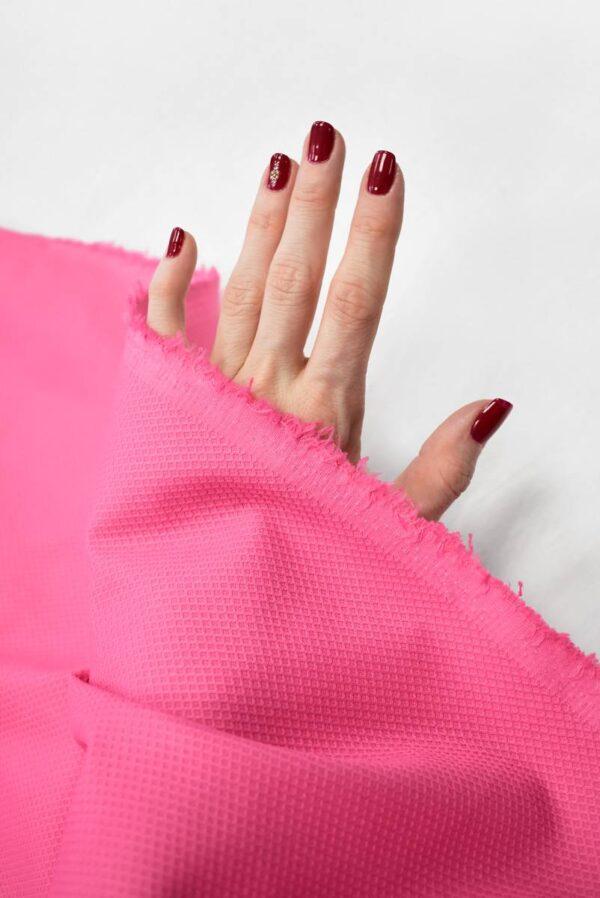 Пике стрейч ярко-розовый (7994) - Фото 7