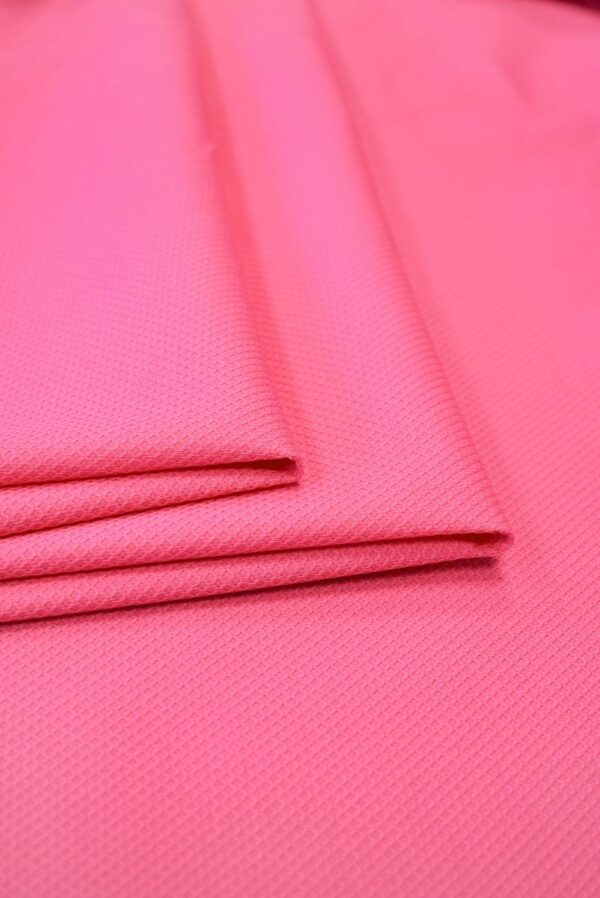 Пике стрейч ярко-розовый (7994) - Фото 9