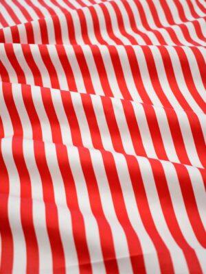 Сатин стрейч в красную и белую полоску (7996) - Фото 11