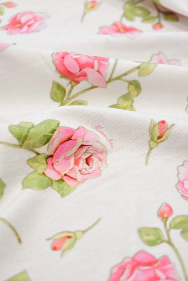 Трикотаж розы на молочно-белом фоне (8039) - Фото 11