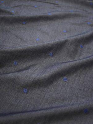 Штапель графитовый с вышивкой в горошек (8087) - Фото 18