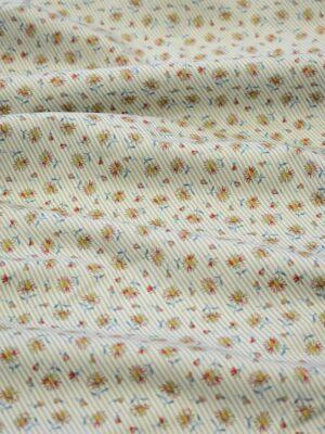 Хлопок рубашечный беж в тонкую полоску с ромашками (8090) - Фото 15
