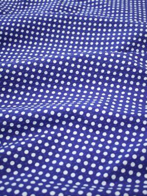 Хлопок жатый синий в белый горошек (8091) - Фото 17