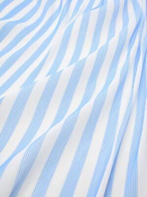 Плиссе белое в голубую полоску (8092) - Фото 17