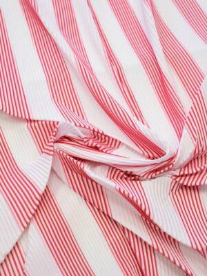 Плиссе белое в красную полоску (8094) - Фото 16