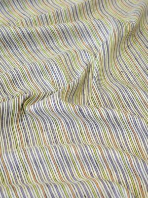 Лен рубашечный в разноцветную полоску (8102) - Фото 16