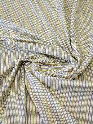 Лен рубашечный в разноцветную полоску (8102) - Фото 17