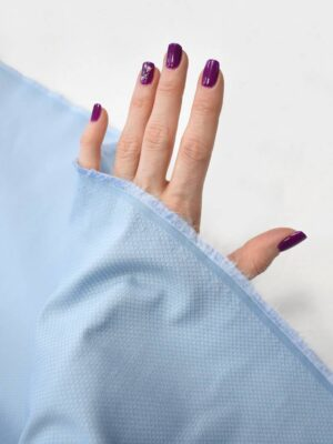 Пике стрейч пастельно-голубого оттенка (8105) - Фото 13