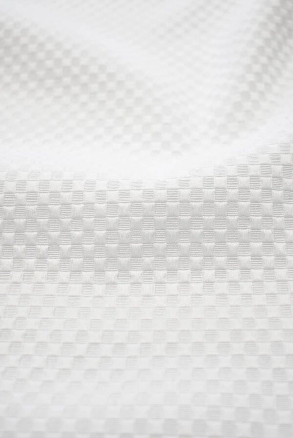 Хлопок пике белый с крупными ячейками (8115) - Фото 9