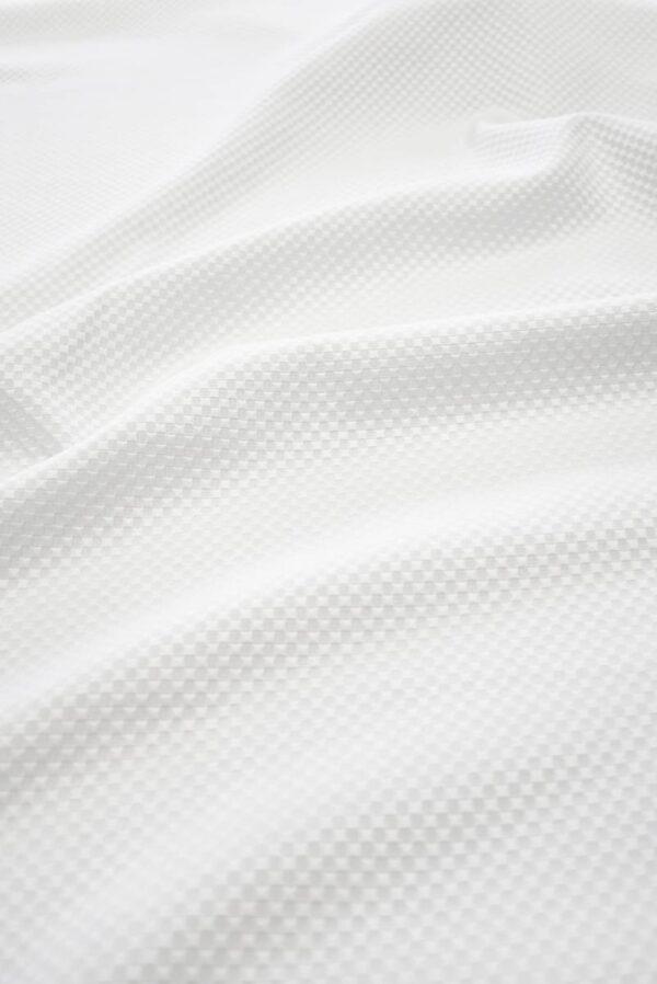 Хлопок пике белый с крупными ячейками (8115) - Фото 6