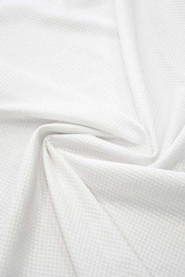 Хлопок пике белый с крупными ячейками (8115) - Фото 10