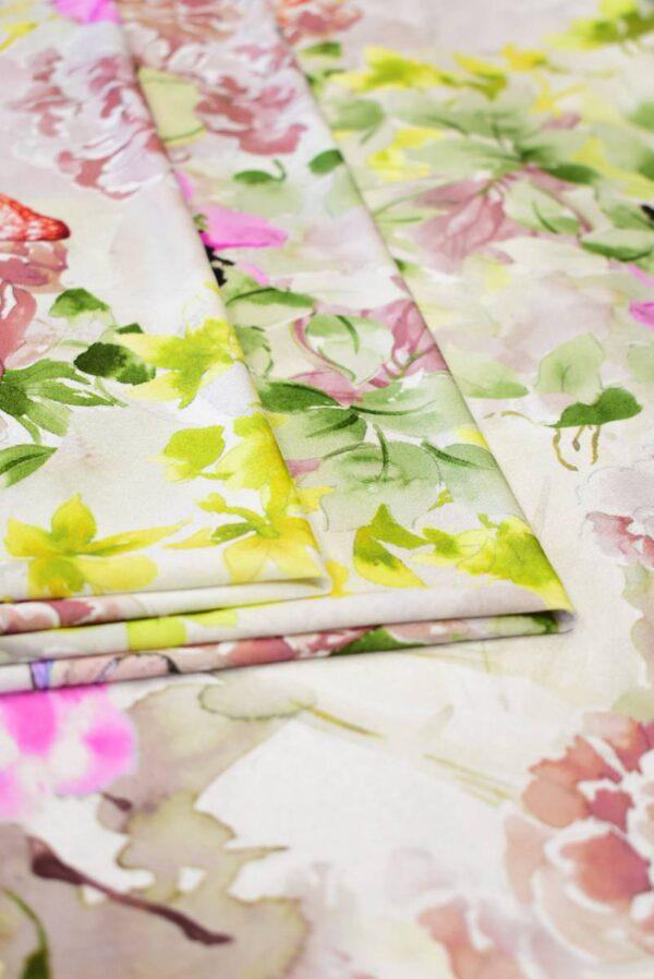 Трикотаж с акварельными цветами и бабочками (8199) - Фото 8