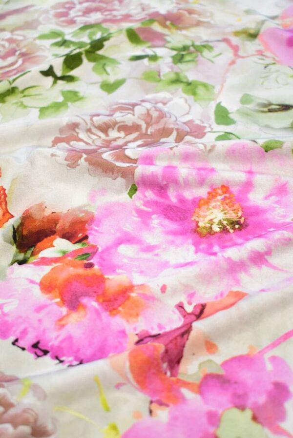 Трикотаж с акварельными цветами и бабочками (8199) - Фото 10