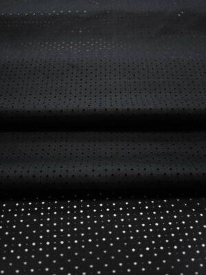 Хлопок черный с перфорацией (8337) - Фото 13