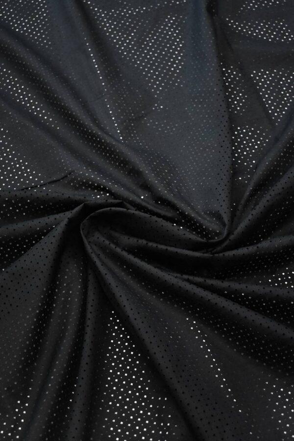Хлопок черный с перфорацией (8337) - Фото 8