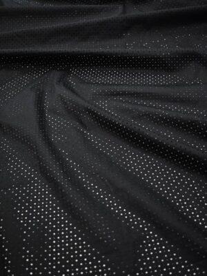 Хлопок черный с перфорацией (8337) - Фото 12