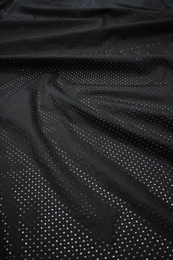 Хлопок черный с перфорацией (8337) - Фото 6