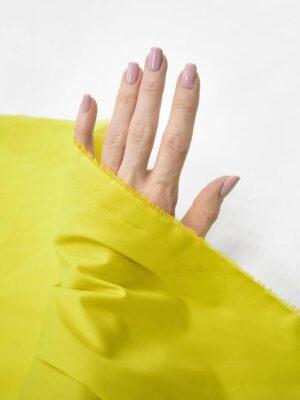 Хлопок стрейч рубашечный желтый с зеленым оттенком (8366) - Фото 13