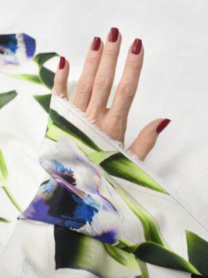 Хлопок белый с синими тюльпанами (8427) - Фото 13