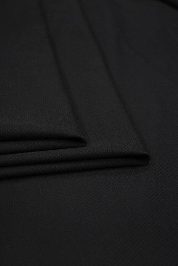 Пике стрейч черный (8436) - Фото 9